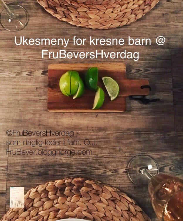 Ukesmeny for kresne barn uke 2//2019