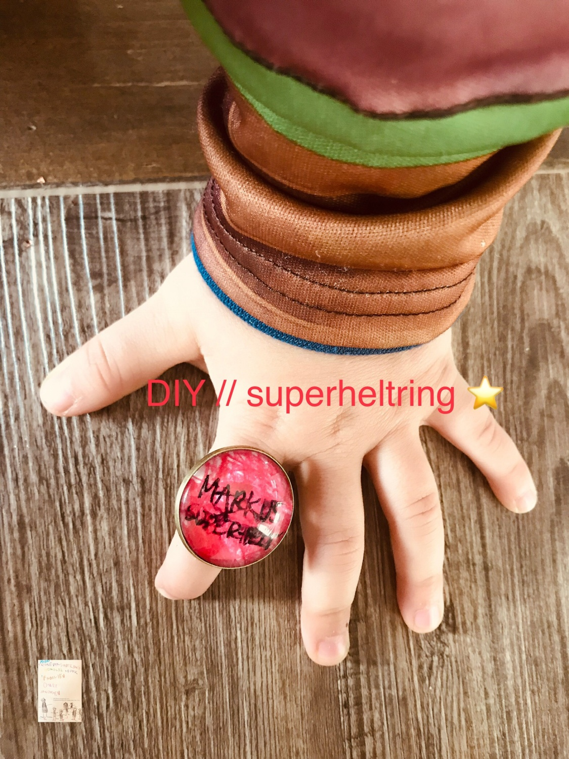 Karneval // DIY superhelt ring