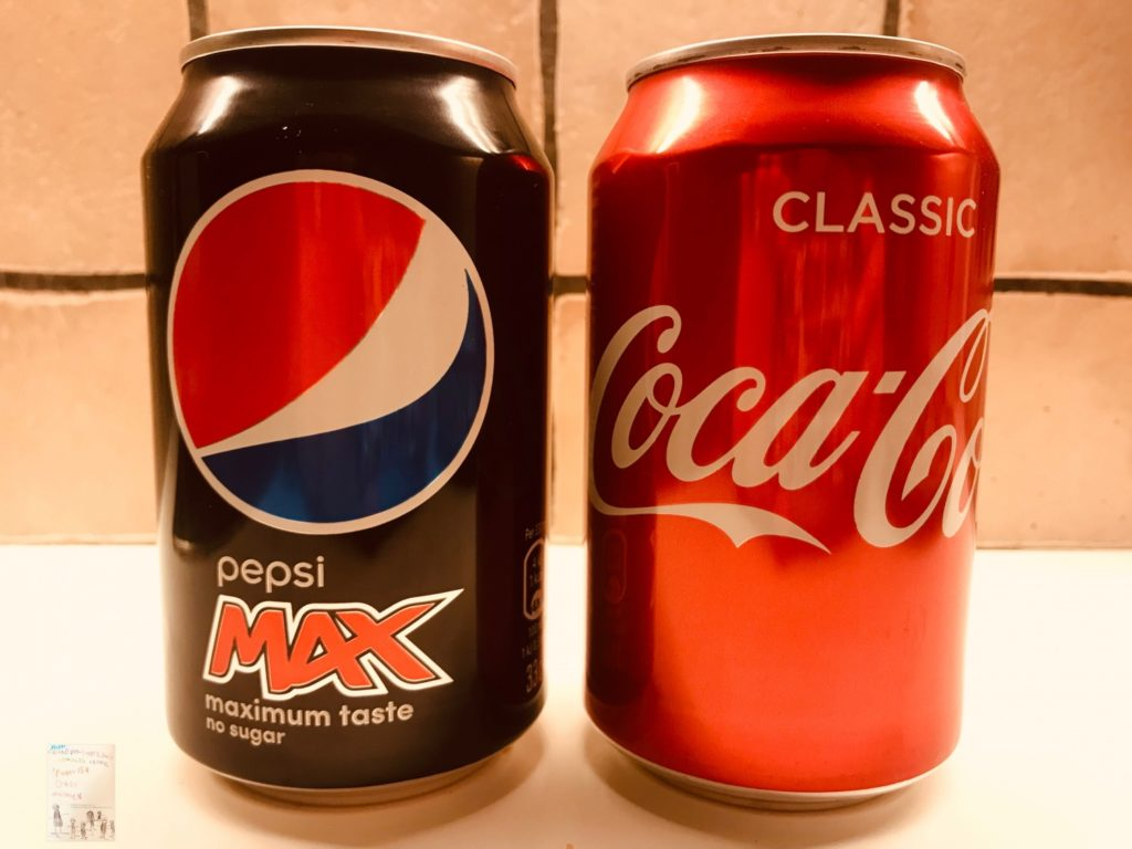 Blindtest coca cola VS Pepsi Max