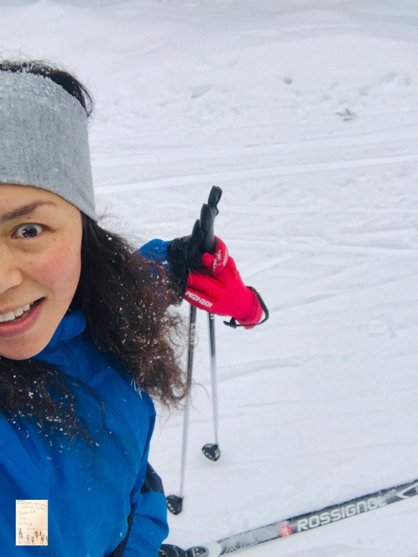 Første skitur med baby Oskar