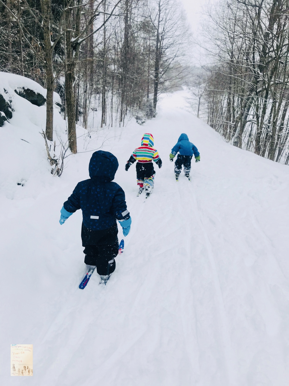 Skitur ned miniklanen 🌨