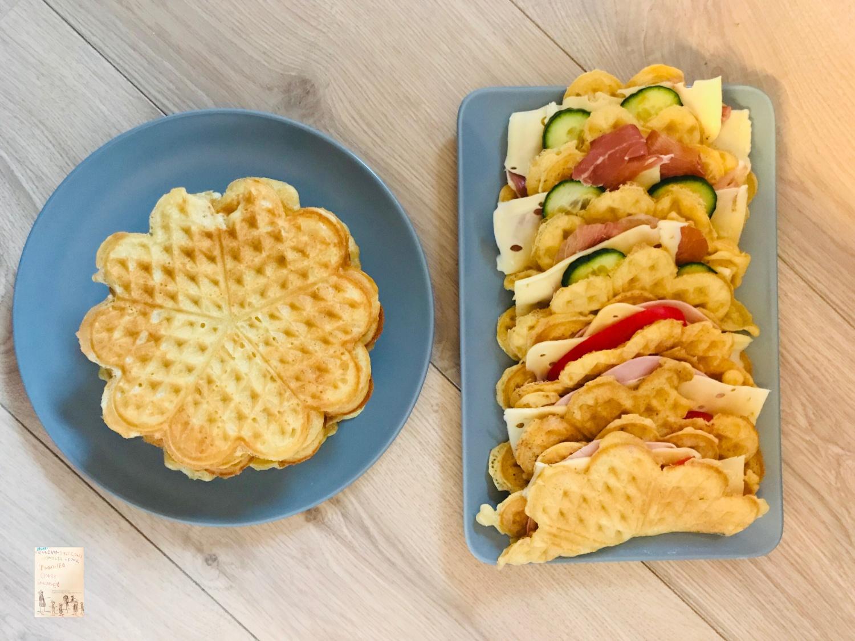 Frokostvafler med spekeskinke og ost