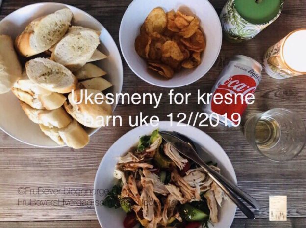 Ukesmeny for kresne barn uke 12//2019