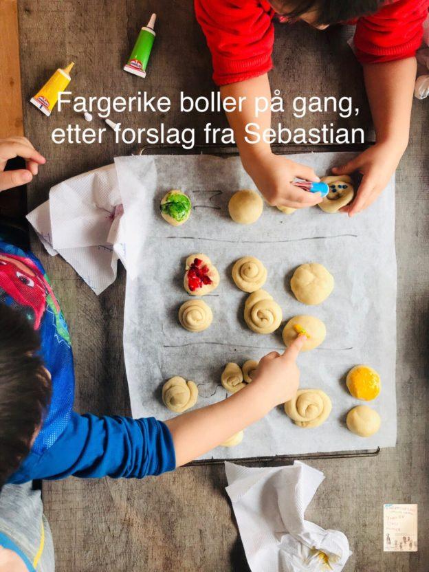 Fargerike boller // bake med barn // små matsjefer