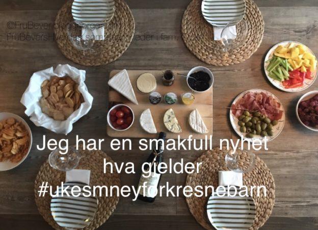Ukesmeny for kresne barn // med en smakfull nyhet
