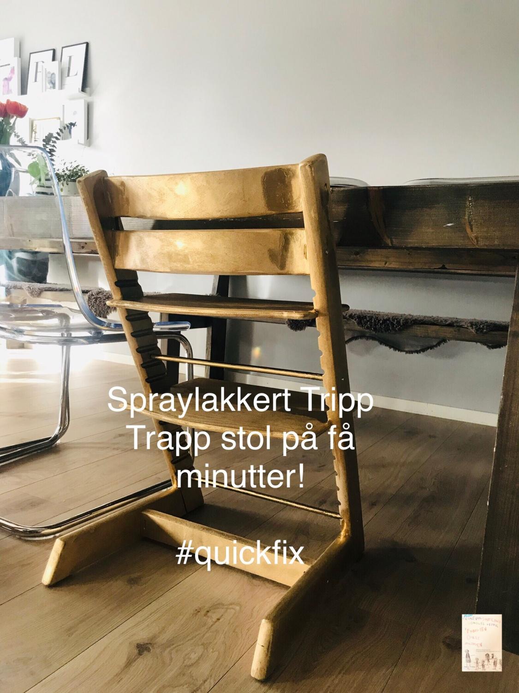 DIY // QuickFix spraylakkere Tripp trapp stol