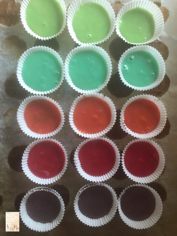 Fargerike boller // bake med barn