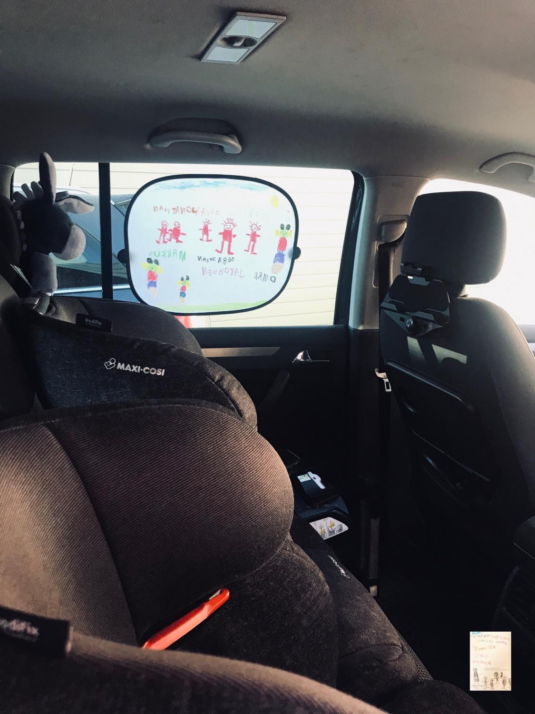 DIY solskjerm til bilen med Kos med kidsa // aktivitet å gjøre med barn