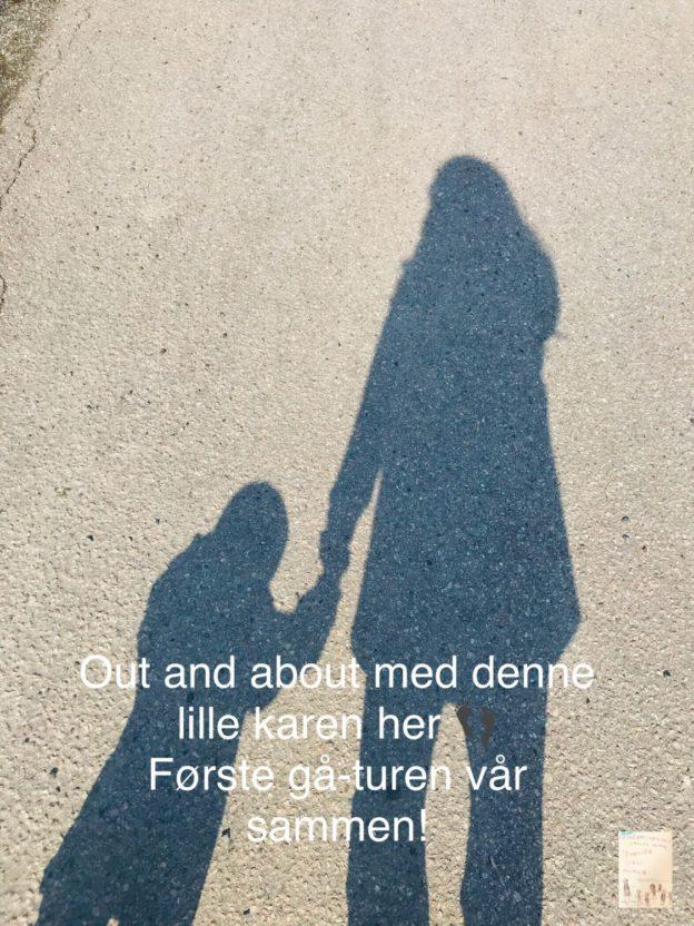 Først gåturen 👣