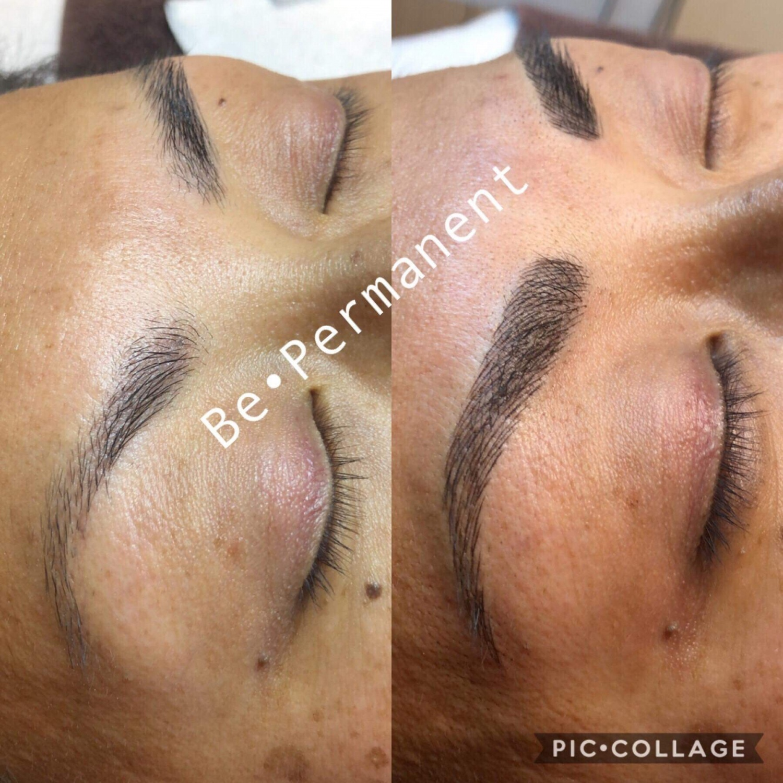 Korrigering av bryn // hårstråteknikk // microblading