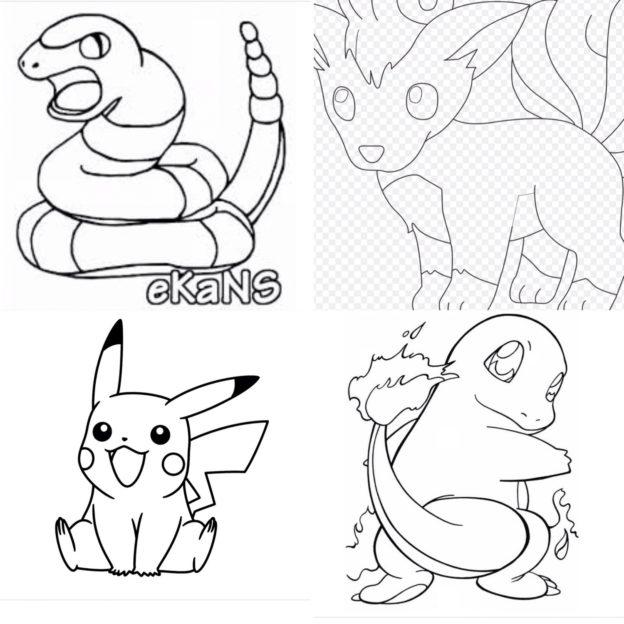 Fargelegge Pokémon // aktivitet å gjøre med barn // DIY // coloring