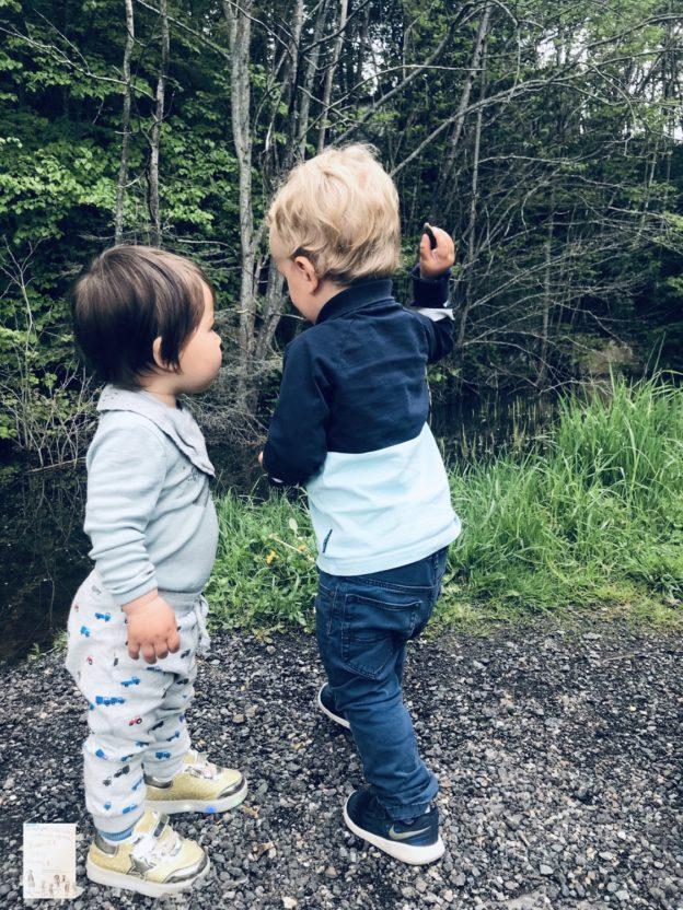 To små fettere på tur @Krokodilledammen