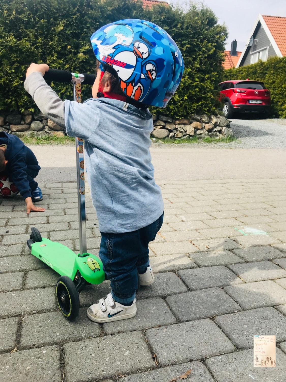 Sparkesykle - klare selv! Oskar 1 år