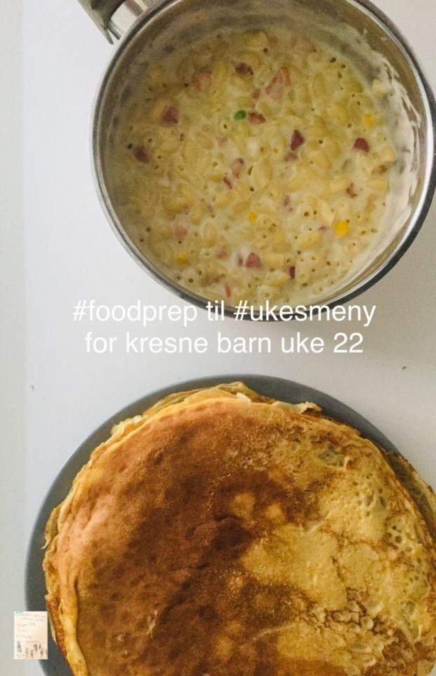 Food prep, ukesmeny for kresne barn // middagstips