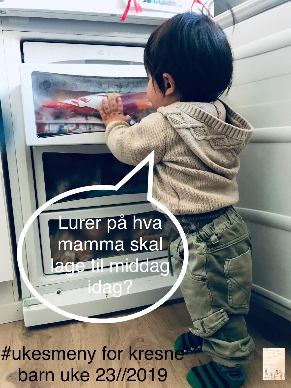Ukesmeny for kresne barn uke 23//2019