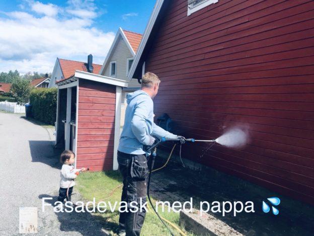 Fasadevask med pappa // verden sette igjennom babys øyne