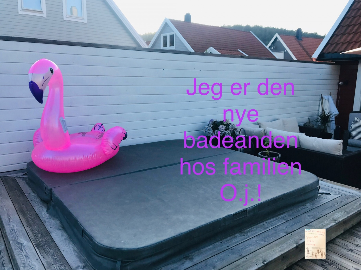 Flamingo i boblebadet @ the O.j.'s