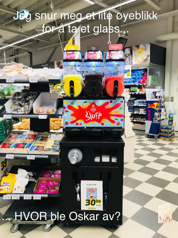 Oskar i butikken og han har «matvett»!