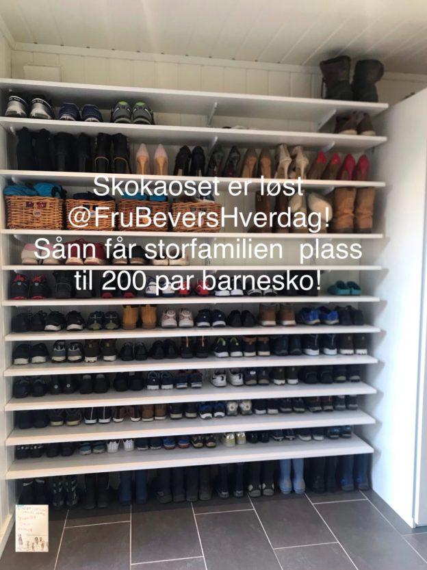 DIY sko oppbevaring @FruBeversHverdag