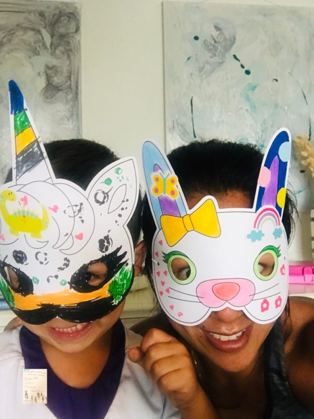DIY ansiktsmasker // tegne en regnfull dag!