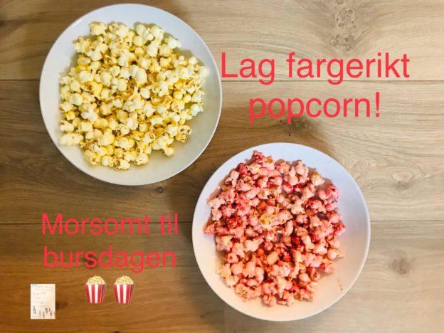 Sånn lager du fargerikt popcorn 🍿