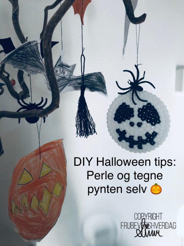 Dagens Halloween tips: tegne og perle pynten selv @FruBevershverdag