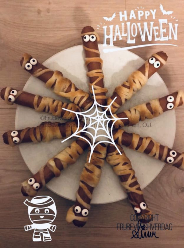 Dagens Halloween tips: mumie pølser