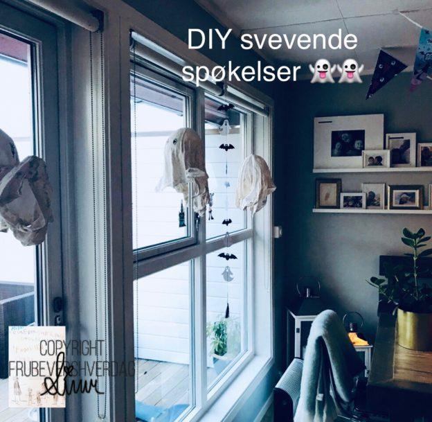 Dagens hallweentips DIY svevende spøkelser