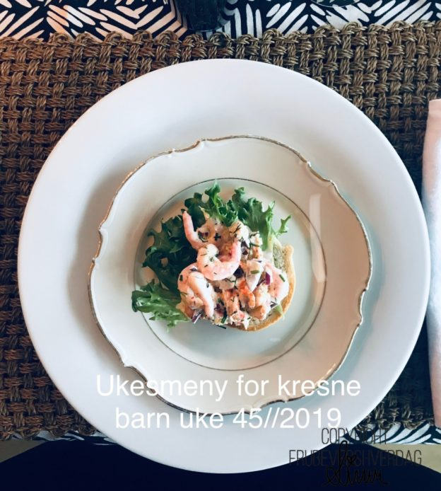 Ukesmeny for kresne barn 45//2019