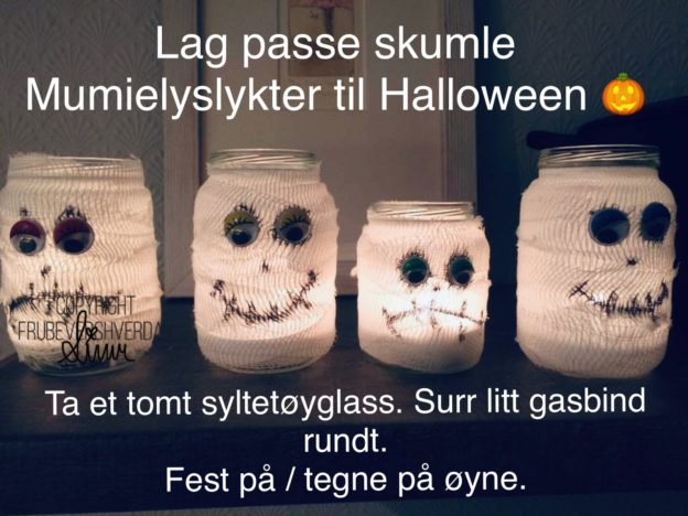 Dagens Halloween tips :DIY mumielykter