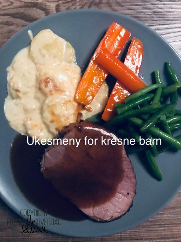 Ukesmeny for kresne barn uke 44//2019 @FruBeversHverdag