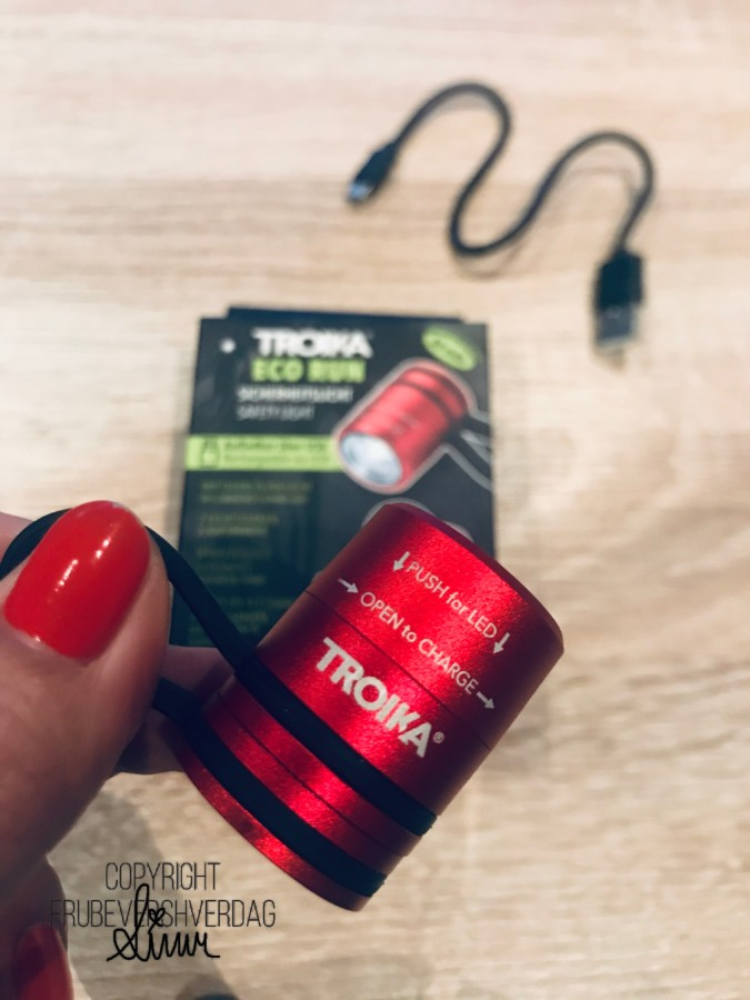 ECO Run USB oppladbar LED sports lommelykt