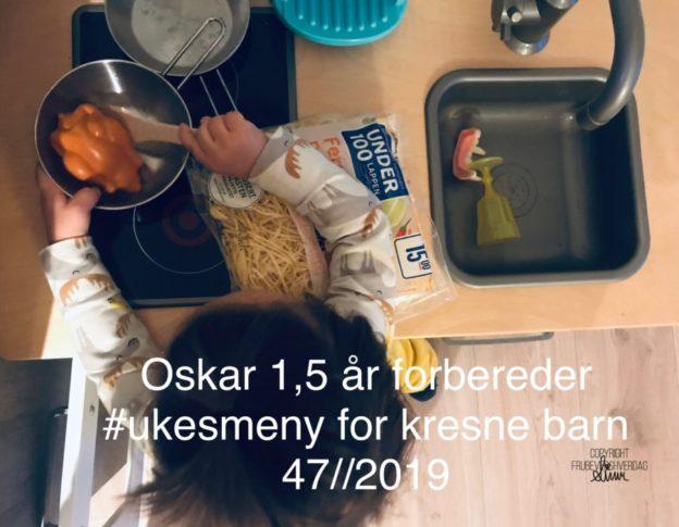 Ukesmeny for kresne barn uke 47//2019