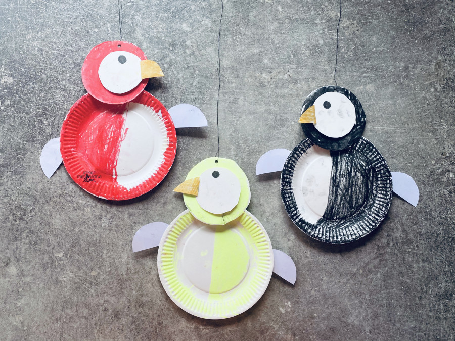 DIY pingvin med papptallerkner @FruBeversHverdag