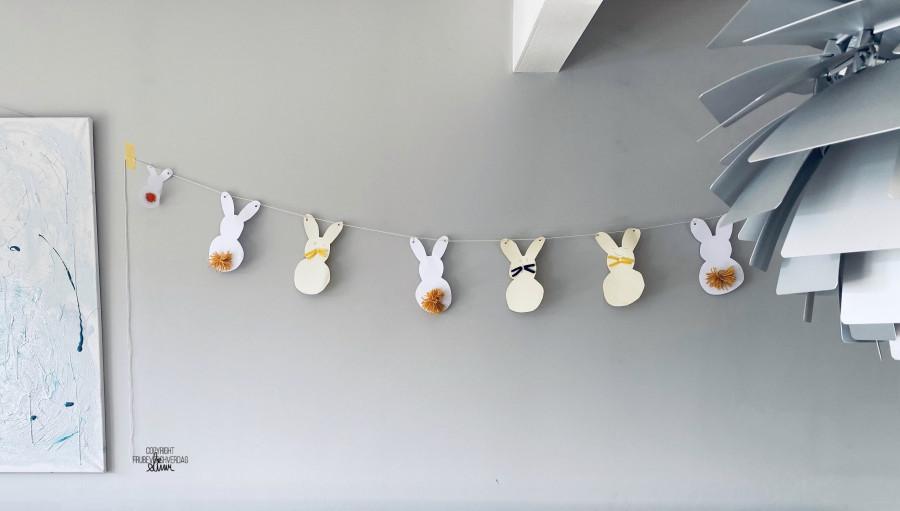 Diy påskeverksted: påskehare girlandere @frubevershverdag 🐣