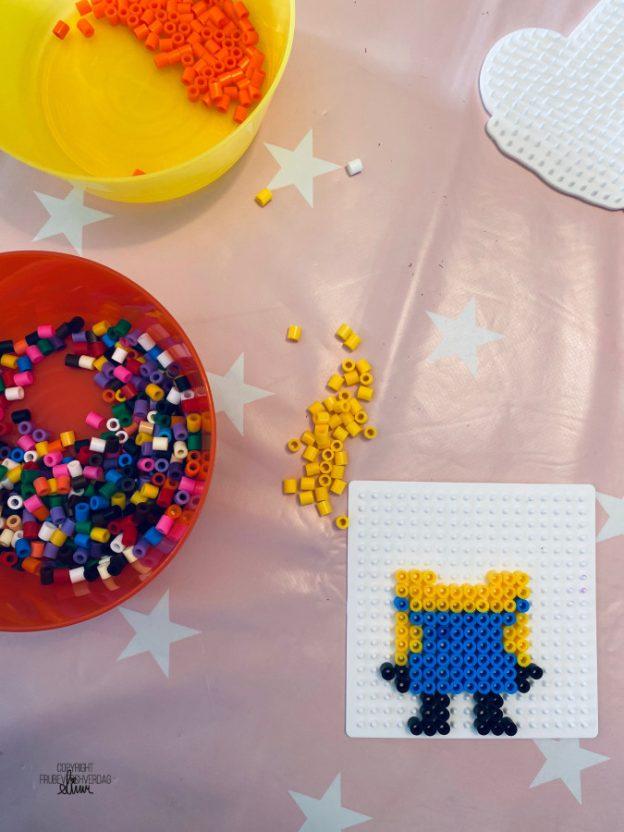 Minions perle // hjemmeskole @FruBeversHverdag