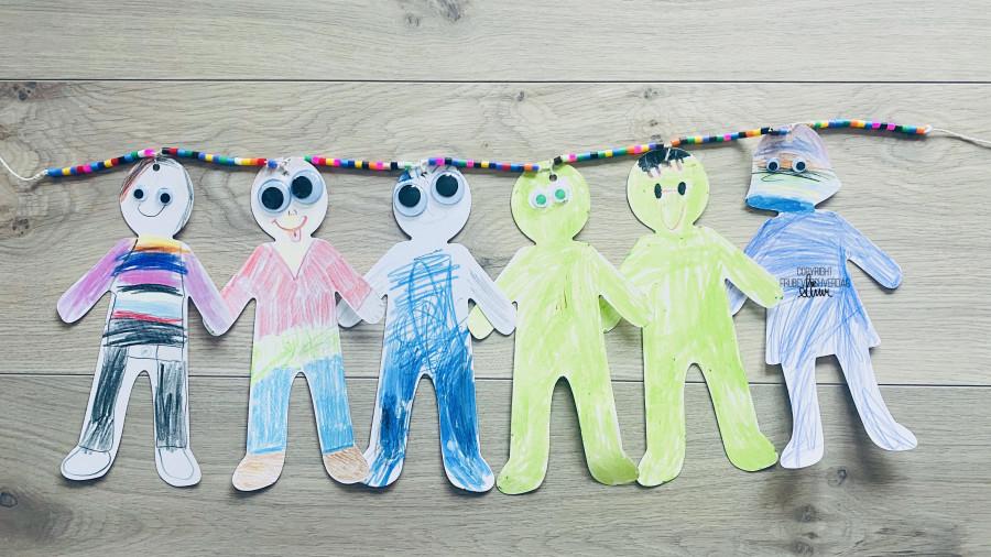 Kreativ hjemmeskole - selvportrett @FruBeversHverdag