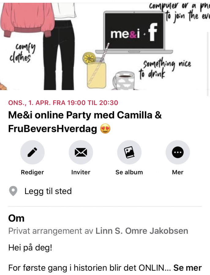 Online Me&I PARTY // FruBeversHverdag