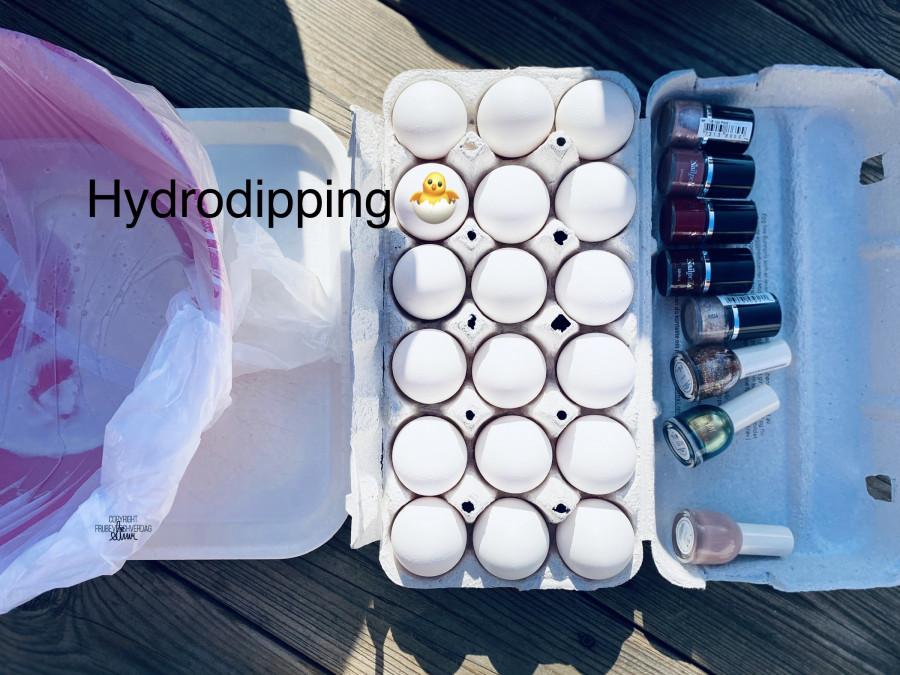 Hydrodipping (påske) egg @FruBeversHverdag
