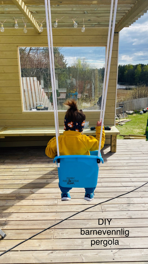 DIY barnevennlig pergola [FruBeversHverdag]