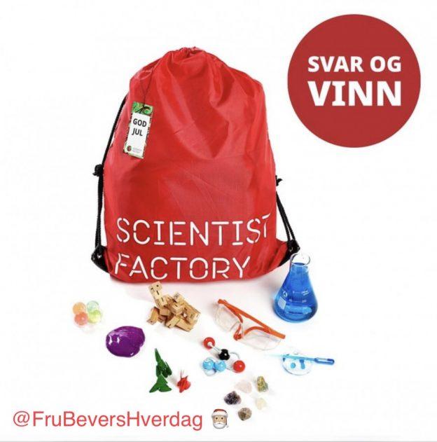 Vinn Forskerfabrikkens julekalender hos FruBeversHverdag