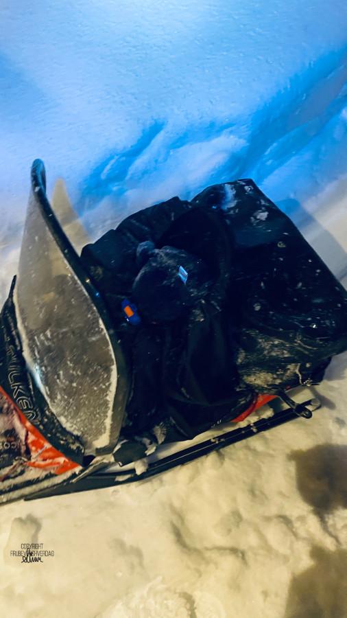 Oskar sin debut i snøstorm midt på natten på vei til hytta 🌪🌨❄️ [FruBeversHverdag]