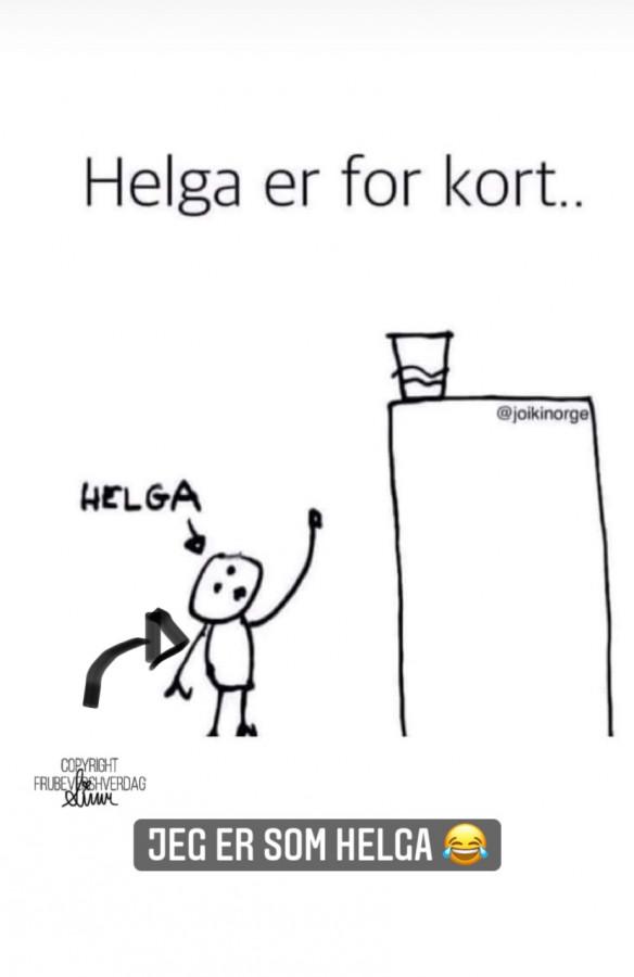 Helga er for kort - det samme er jeg 😂 FruBeversHverdag