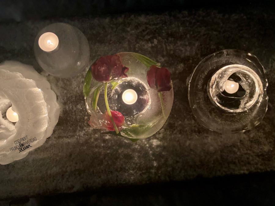 Diy islykter med blomster ❄️ FruBeversHverdag