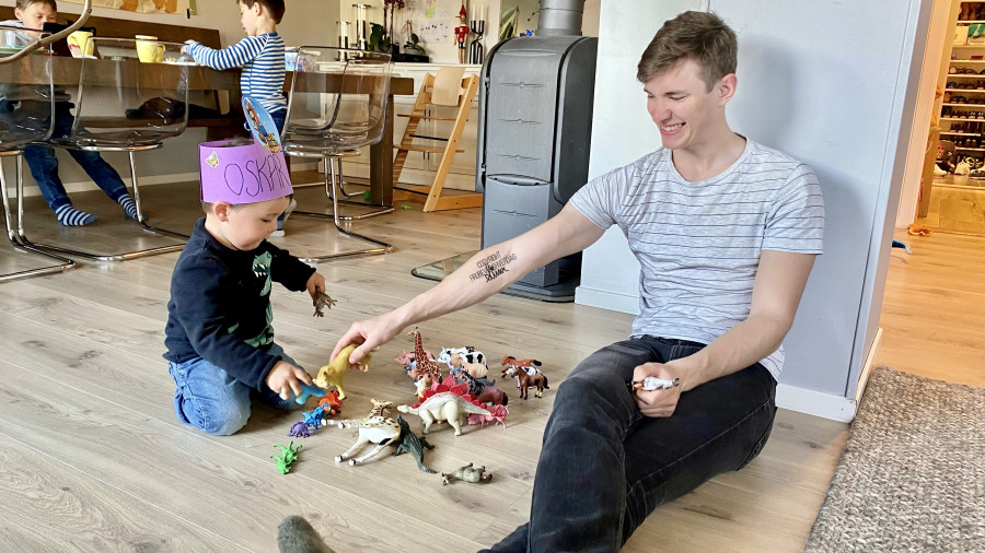 Oskar fyller år - dinosaur temabursdag 🦖 [FruBeversHverdag]