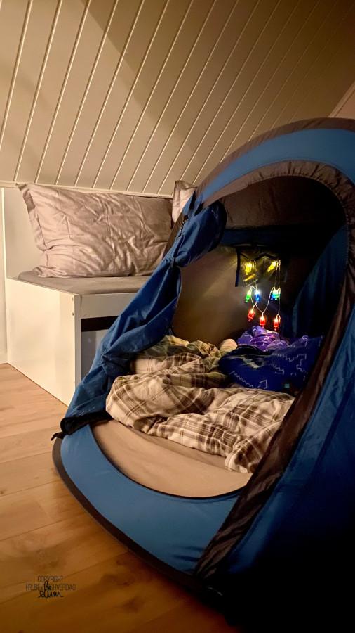 Hvem sa telting kun skal være utendørs? 🏕 FruBeversHverdag