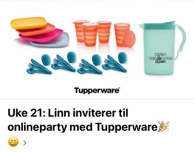Online Tupperware party 🎉 FruBeversHverdag