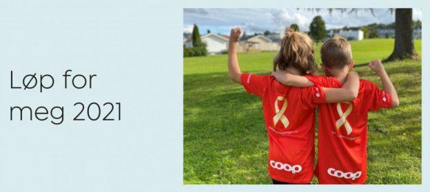 Løpeformeg 2021 med Barnekreftforeningen og FruBeversHverdag