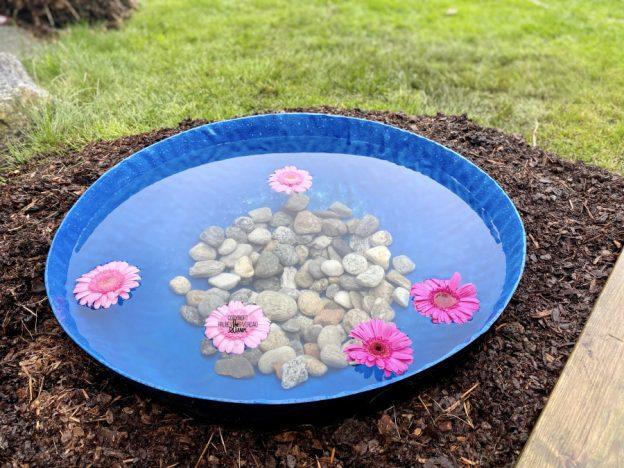 DIY vannspeil i hagen 💦🌸 [FruBeversHverdag]