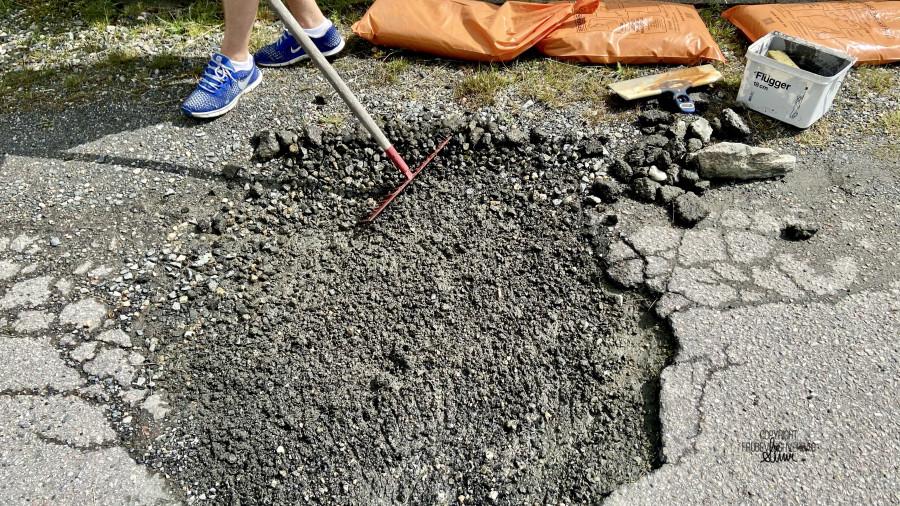 Privat vei - DIY asfalt 🚨 [FruBeversHverdag]